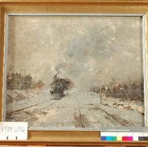 Image of Painting - Railroad in the Catskills